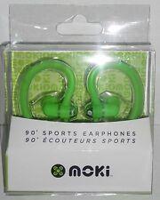 Moki 90° SPORTS EARPHONES Green  NEW mp3 music player ear Head Phones headphones