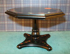 Doll house 1'' scale miniature hand painted  black table