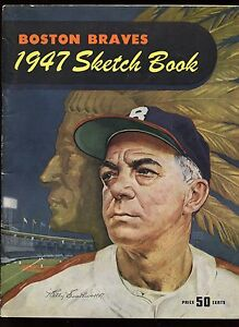1947 Boston Braves Baseball Yearbook EX
