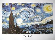 """VINCENT VAN GOGH LITHOGRAPHIE / KUNSTDRUCK """"STARRY NIGHT / STERNENNACHT"""""""