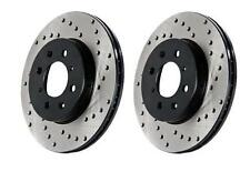 Dodge Viper Stoptech Drilled Rotors, Left and Right Front Pair