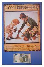 "Targa vintage ""Good housekeeping"" (casalinga, giardinaggio), metallo, cm 33x25"