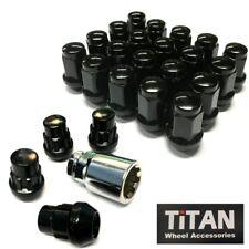 Titan Wheel Nuts & Lock Nut Pack Black M12 x 1.25 for Subaru, Nissan, JDM