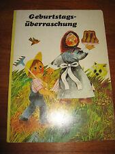 (E609)ALTES PAPP-KINDERBUCH GEBURTSTAGSÜBERRASCHUNG ERIKA NERGER POSTREITER 1996