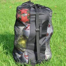 Large Sports Drawstring Mesh Ball Bag Football Training Equipment Storage