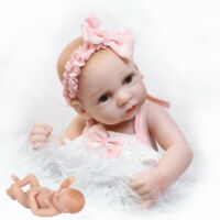 "12"" Lifelike Soft Touch Full Silicone Body Handmade Reborn Baby Doll Girl Doll"