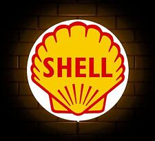 SHELL BADGE SIGN LED LIGHT BOX MAN CAVE GARAGE WORKSHOP GAMES ROOM BOYS GIFT