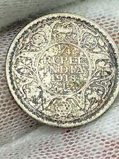 1918 India 1/4 Rupee