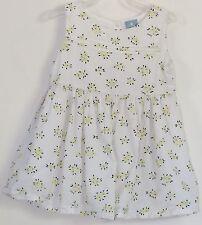 babyGAP Size 12-18 Months White Yellow Sleeveless Dress