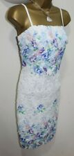 Lipsy Sexy Bodycon 10 Crochet Lace White Cream Cami Floral Party Wedding BNWT