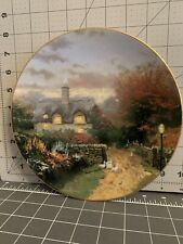 """Garden Cottages of England Kinkade """"Open Gate Cottage"""" Knowles Collector Plate"""