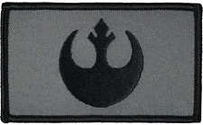 "Star Wars Rebel Tactical Hook and Loop Embroidered Gray Urban 2"" X 3.5"""