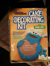 Vintage Wilton Cake Cookie Monster Decorating Kit 1979 with instructions