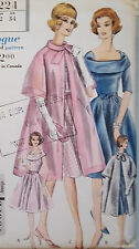 Vintage 1961 VOGUE SPECIAL DESIGN Pattern 1960s DRESS, COAT 1950s 60s Easter