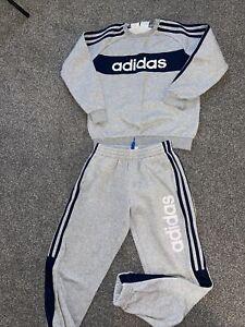 boys adidas tracksuit 9-10 Grey