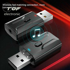 USB Bluetooth 5.0 Adapter Wireless Audio Transmitter Receiver for TV PC Car AUX