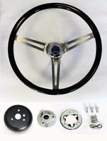 1968 1969 Charger Dart Coronet High Gloss Finish Black Wood Steering Wheel 15""