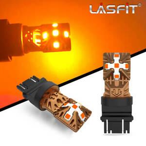 Lasfit Amber Yellow 3156 3157 3457 LED Rear Turn Signal Blinker Light Bulbs Kit