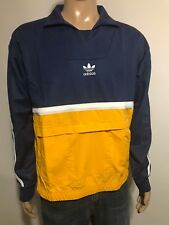 Adidas Originals Classic Drill Pullover Training Jacket CE4811 Indigo Gold Men M