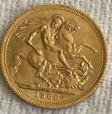 Gold Sovereign  A STUNNING FLAWLESS GEM BU 1966 ENGLISH--QUEEN ELIZABETH II