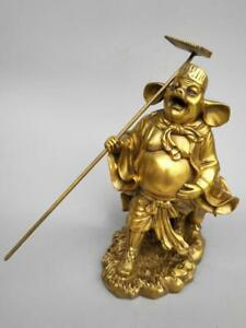 China seiko carving Pure brass Pig eight quit statue