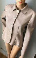 Next Womens Single Breasted Tailored Jacket Oatmeal Beige UK Size 12 Gt Cond