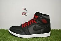 "New Nike Air Jordan 1 Retro High OG Size 10 ""Black Satin"" Red Shoes 555088-060"