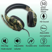 Gaming Headset Stereo Surround Headphone 3.5mm Wired Mic For PS4 Laptop Xbox UK