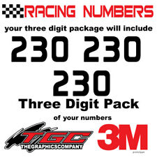 Racing Numbers Vinyl Decals Stickers boat car BMX bike off road sprint quad prot