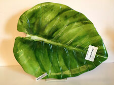"""Tommy Bahama TROPICAL LARGE LEAF SERVING TRAY.   13"""" tall by 16"""" long. BRAND NEW"""