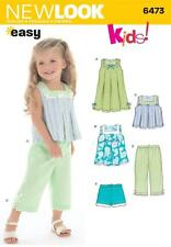 NEW LOOK SEWING PATTERN KIDS EASY DRESS TOP SHORTS TROUSERS SIZE 1/2 - 4  6473