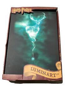 Official Harry Potter Patronus Luminart Touch Light-Up Canvas Wall Artwork Decor