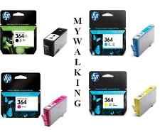 Genuine HP 364xl NERO & HP 364 CIANO MAGENTA GIALLO CARTUCCE 1st Classe Affrancatura