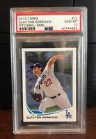2013 Topps Mini Clayton Kershaw Dodgers Baseball Card #22 PSA 10 Gem Mint