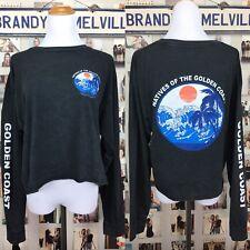 brandy melville black wash long sleeve Camilia natives golden coast top NWOT S/M