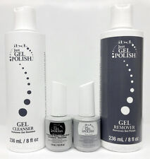 IBD Just Gel Polish- Essential Kit 4pc- BASE,TOP,Cleanser,Remover 8oz