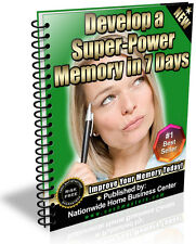 DEVELOP A SUPER MEMORY IN 7 DAYS PDF EBOOK FREE SHIPPING RESALE RIGHTS
