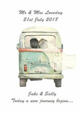 Personalised VW Campervan Camper Print Anniversary Engagement Wedding Gift