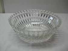 "Vintage Jeannette Depression Glass ""Windsor Diamond"" Crystal Pointed Edge Bowl"