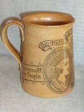 Rare Antique Doulton Lambeth Queen Victoria Diamond Jubilee Mug 1897