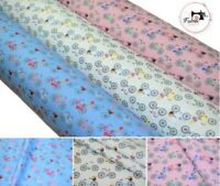 """Bicycle Premium Printed 100% Cotton Fabric High Quality 60"""" Wide 3 Colours"""