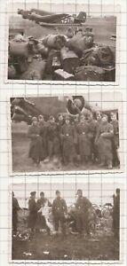 3 Fotos Ju 52 Versorgung Stalingrad Flugplatz Salsk Dezember 1942