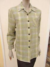 CAVITA-Franela Para Mujer grueso Mezcla de color verde claro estilo camisa tamaño 12