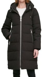DKNY LONGLINE PUFFER COAT D.K.N.Y LONG LINE BIG ZIP PUFFER JACKET BNWT LARGE