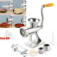 Hand Crank Manual Meat Grinder Mincer Stuffer Sausage Filler Table Maker Machine