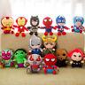 25cm Marvel Avengers Superhero all stuff plush toy Captain America Ironman Thor