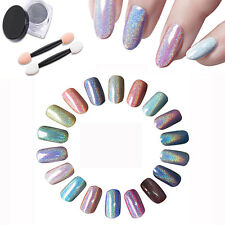 1g Rainbow Effect Holographic Laser Powder Nail Glitter Chrome Pigments Hologram