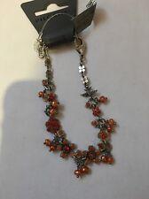PILGRIM SKANDERBORG, DENMARK Flower Bracelet Genuine Crystals