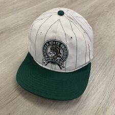 Vintage 90s Michigan State Spartans NCAA Pinstripe Starter Snapback Hat OSFA