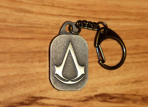 Assassin's Creed Rare Promo Metal Keychain Key Ring Xbox 360 PS3 Collectible